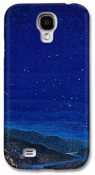 Landscapes Drawings Galaxy S4 Cases - Nocturnal landscape Galaxy S4 Case by Francois-Louis Schmied