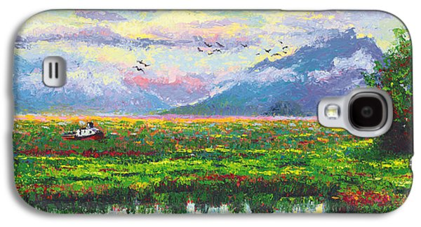 Mud Season Galaxy S4 Cases - Nomad - Alaska Landscape with Joe Redingtons boat in Knik Alaska Galaxy S4 Case by Talya Johnson