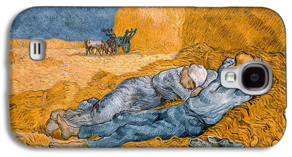 Midday Paintings Galaxy S4 Cases - Noon the siesta after Millais Galaxy S4 Case by Vincent Van Gogh