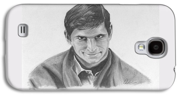 Norman Bates Portrait Galaxy S4 Case by M Oliveira
