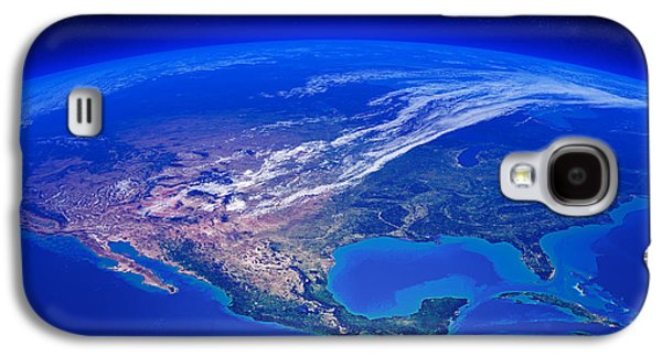 Earth Galaxy S4 Cases - North America seen from space Galaxy S4 Case by Johan Swanepoel