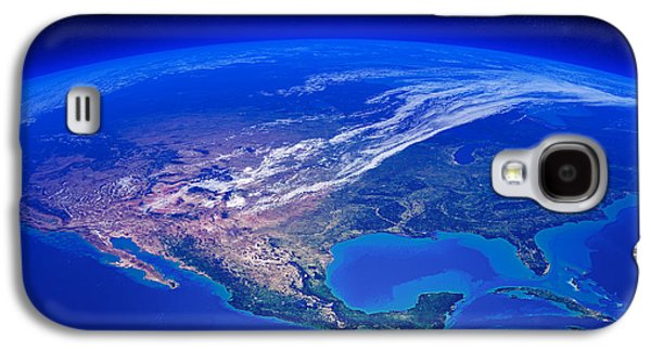 North Digital Galaxy S4 Cases - North America seen from space Galaxy S4 Case by Johan Swanepoel