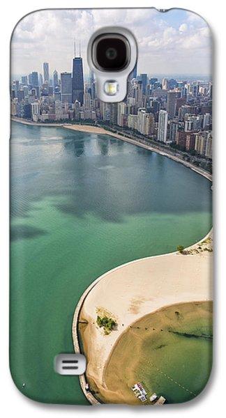 Willis Tower Galaxy S4 Cases - North Avenue Beach Chicago Aerial Galaxy S4 Case by Adam Romanowicz