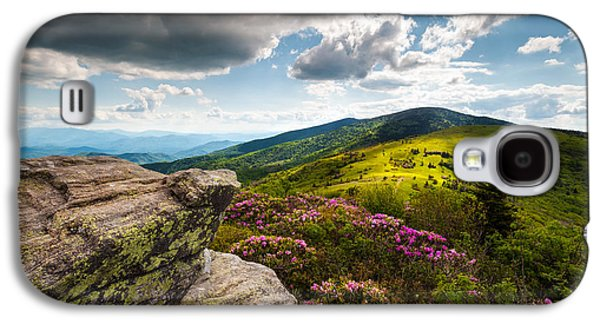 Tn Galaxy S4 Cases - North Carolina Blue Ridge Mountains Roan Rhododendron Flowers NC Galaxy S4 Case by Dave Allen