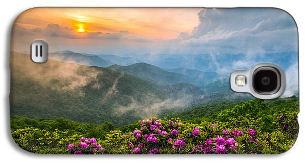 Western Photographs Galaxy S4 Cases - North Carolina Blue Ridge Parkway Spring Appalachian Mountains NC Galaxy S4 Case by Dave Allen
