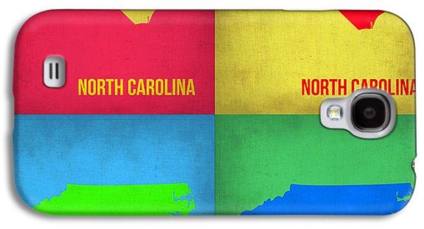 North Digital Galaxy S4 Cases - North Carolina Pop Art Map 1 Galaxy S4 Case by Naxart Studio