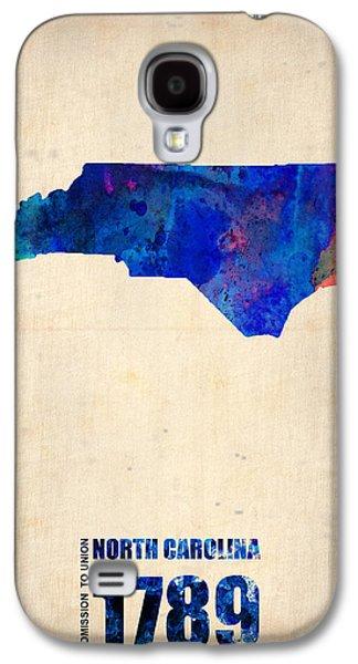 Decoration Galaxy S4 Cases - North Carolina Watercolor Map Galaxy S4 Case by Naxart Studio