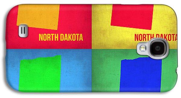 North Digital Galaxy S4 Cases - North Dakota Pop Art Map 1 Galaxy S4 Case by Naxart Studio