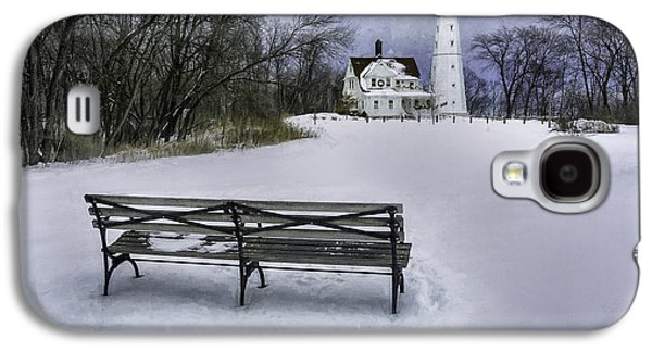 North Point Lighthouse And Bench Galaxy S4 Case by Scott Norris