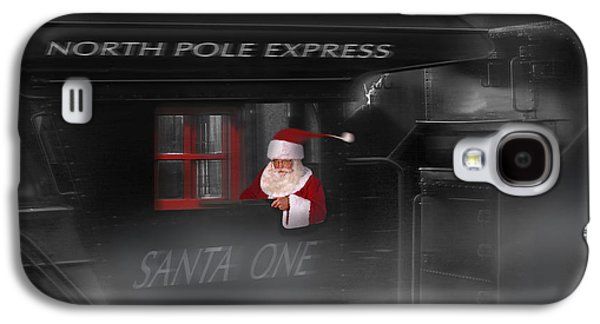Nicholas Galaxy S4 Cases - North Pole Express Galaxy S4 Case by Mike McGlothlen