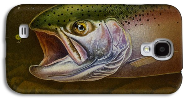 Rainbow Trout Galaxy S4 Cases - North Shore Steelhead Galaxy S4 Case by Jon Q Wright