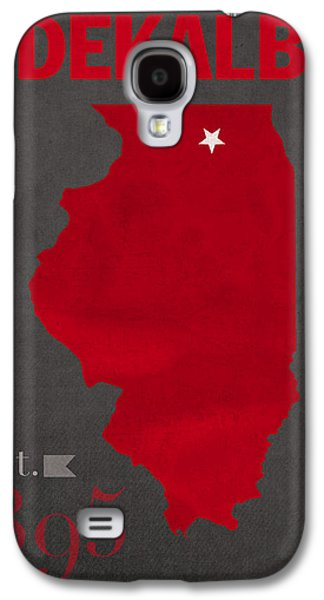Husky Galaxy S4 Cases - Northern Illinois University Huskies DeKalb Illinois College Town State Map Poster Series No 079 Galaxy S4 Case by Design Turnpike