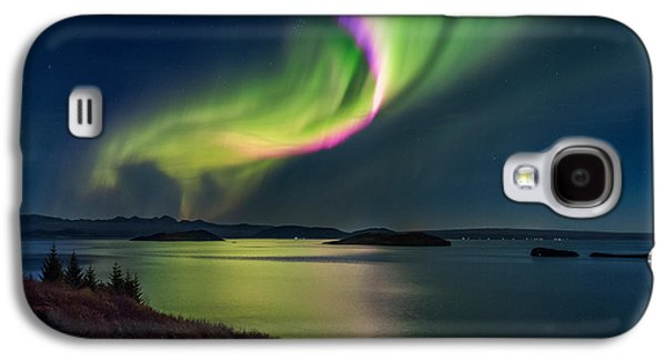 Northern Lights Over Thingvallavatn Or Galaxy S4 Case by Panoramic Images