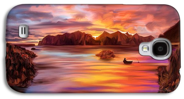 Alga Paintings Galaxy S4 Cases - Northern Norway - iPad version Galaxy S4 Case by Angela A Stanton