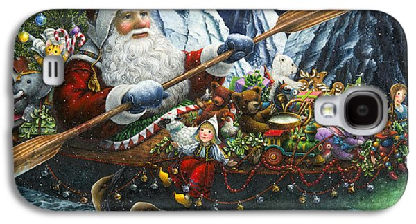 Santa Claus Paintings Galaxy S4 Cases - Northern Passage Galaxy S4 Case by Lynn Bywaters