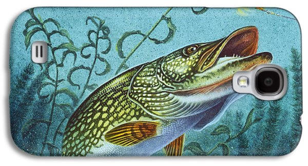 Cabins Galaxy S4 Cases - Northern Pike Spinner Bait Galaxy S4 Case by Jon Q Wright