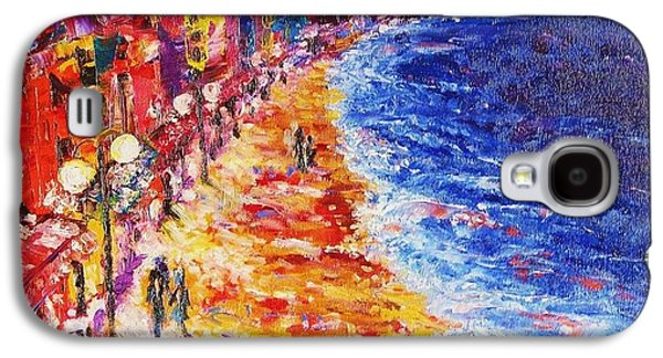 Buildings By The Ocean Galaxy S4 Cases - Nostalgic Night Galaxy S4 Case by Helen Kagan