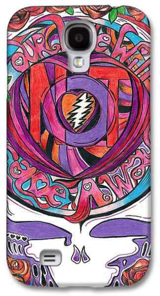 Psychedelic Galaxy S4 Cases - Not Fade Away Galaxy S4 Case by Kevin J Cooper Artwork