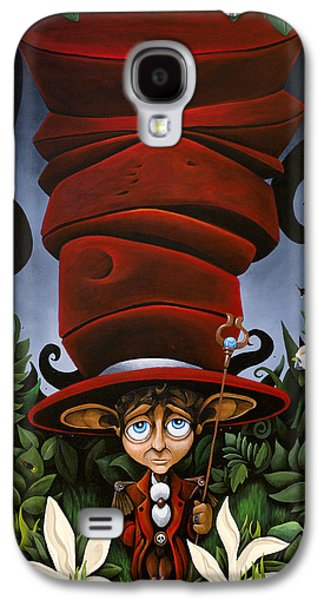 Mad Hatter Paintings Galaxy S4 Cases - Not So Mad Hatter Galaxy S4 Case by Dion Weichers