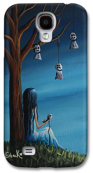 Creepy Paintings Galaxy S4 Cases - Not Such A Lonely Place After All Original Art Galaxy S4 Case by Shawna Erback