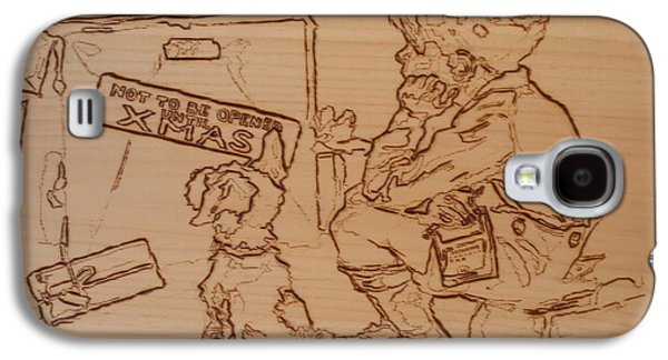 Puppies Pyrography Galaxy S4 Cases - Not To Be Opened Until Christmas Galaxy S4 Case by Sean Connolly