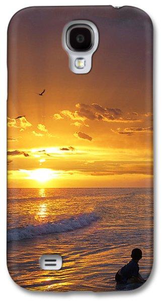 Little Boy Galaxy S4 Cases - Not Yet - Sunset Art By Sharon Cummings Galaxy S4 Case by Sharon Cummings