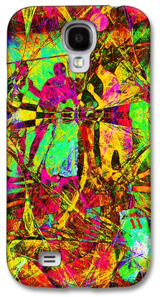 Basketball Abstract Galaxy S4 Cases - Nothing But Net The Tip Off 20150310 Galaxy S4 Case by Wingsdomain Art and Photography