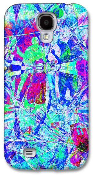 Basketball Abstract Galaxy S4 Cases - Nothing But Net The Tip Off 20150310inv Galaxy S4 Case by Wingsdomain Art and Photography