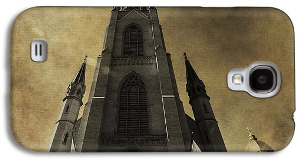 Indiana Flowers Galaxy S4 Cases - Notre Dame Basilica Galaxy S4 Case by Dan Sproul