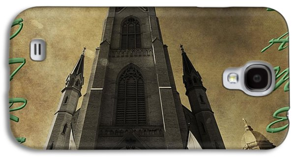 Indiana Flowers Galaxy S4 Cases - Notre Dame Galaxy S4 Case by Dan Sproul