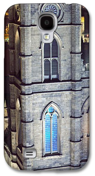 Old Montreal Galaxy S4 Cases - Notre Dame De Montreal At Night Galaxy S4 Case by Panoramic Images