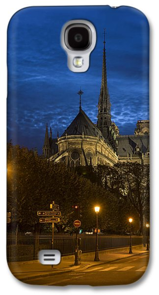 Universities Pyrography Galaxy S4 Cases - Notre Dame de Paris in the twilights Galaxy S4 Case by Vyacheslav Isaev