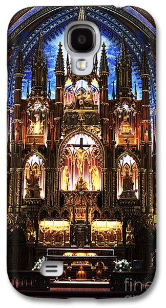 Old Montreal Galaxy S4 Cases - Notre Dame Interior Galaxy S4 Case by John Rizzuto