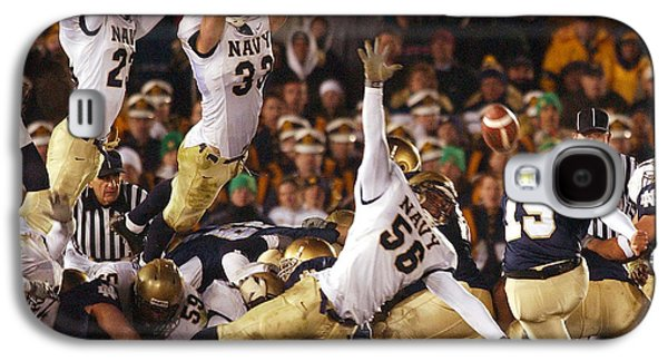 Sports Photographs Galaxy S4 Cases - Notre Dame versus Navy Galaxy S4 Case by Mountain Dreams