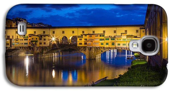 Tuscan Sunset Galaxy S4 Cases - Notte a Ponte Vecchio Galaxy S4 Case by Inge Johnsson