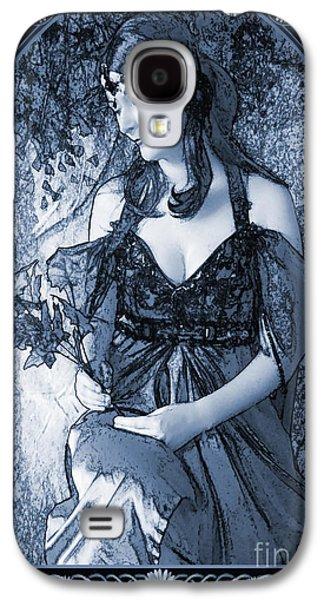 Painter Digital Art Galaxy S4 Cases - Nouveau in C Galaxy S4 Case by John Edwards