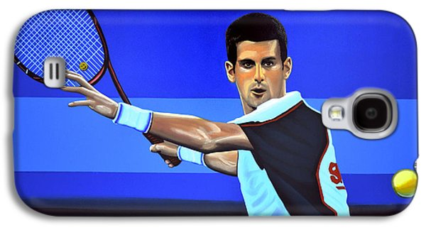Atp Galaxy S4 Cases - Novak Djokovic Galaxy S4 Case by Paul  Meijering