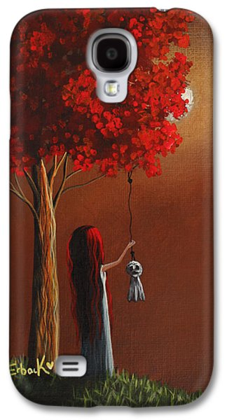 Creepy Paintings Galaxy S4 Cases - Now She Wont Be Alone 3 Original Artwork Galaxy S4 Case by Shawna Erback
