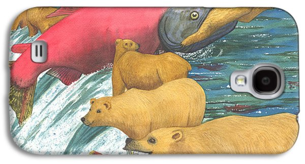 Salmon Paintings Galaxy S4 Cases - Now thats a keeper Galaxy S4 Case by Catherine G McElroy