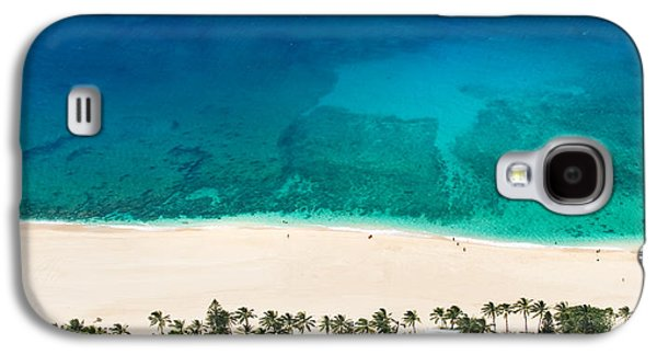 Ocean Shore Galaxy S4 Cases - Pipeline Reef from Above Galaxy S4 Case by Sean Davey