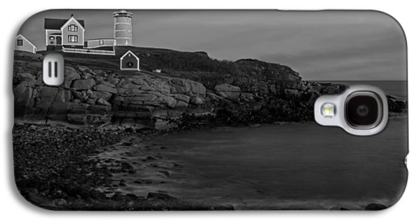 Nubble Lighthouse Galaxy S4 Cases - Nubble Light At Sunset BW Galaxy S4 Case by Susan Candelario