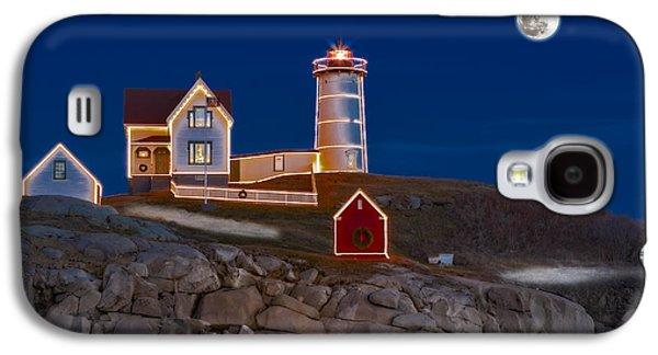 Nubble Lighthouse Galaxy S4 Cases - Nubble Light Cape Neddick Lighthouse Galaxy S4 Case by Susan Candelario
