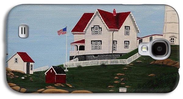 Nubble Lighthouse Paintings Galaxy S4 Cases - Nubble Light Galaxy S4 Case by Karen Sysyn