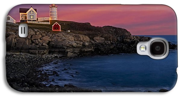 Nubble Lighthouse Galaxy S4 Cases - Nubble Lighthouse At Sunset Galaxy S4 Case by Susan Candelario