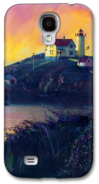 Nubble Lighthouse Paintings Galaxy S4 Cases - Nubble Lighthouse Galaxy S4 Case by Cindy McIntyre