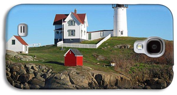 Cape Neddick Galaxy S4 Cases - Nubble Lighthouse One Galaxy S4 Case by Barbara McDevitt