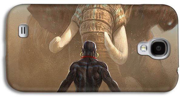 Drama Galaxy S4 Cases - Nubian Warriors Galaxy S4 Case by Aaron Blaise