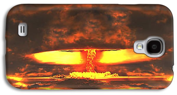 Atomic Galaxy S4 Cases - Nuclear Explosion Galaxy S4 Case by Panoramic Images