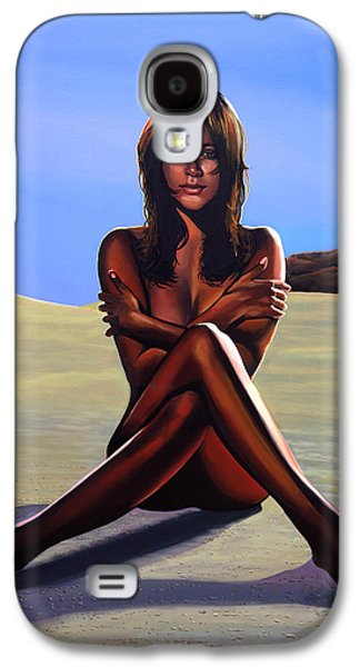 Nudes Paintings Galaxy S4 Cases - Nude Beach Beauty Galaxy S4 Case by Paul Meijering