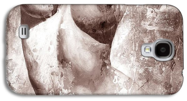 Nudes Digital Galaxy S4 Cases - Nude details - Digital gray color version Galaxy S4 Case by Emerico Imre Toth